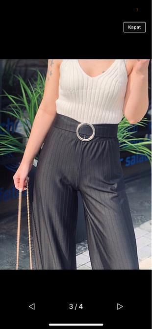 Zara SiyahKemerli kumaş pantolon