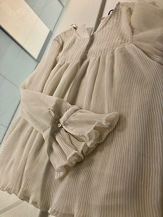 s Beden Pileli ve volanlı bluz