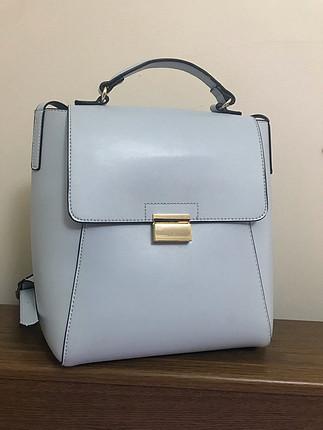Zara mavi sırt çantası