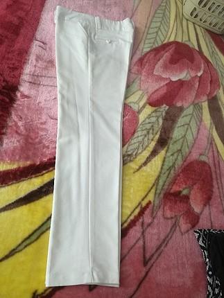 orta bel beyaz pantolon