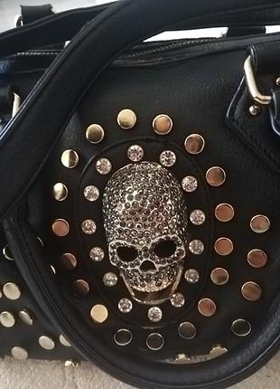 Taşlı çanta
