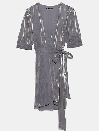 xs Beden Metalik görünümlü elbise