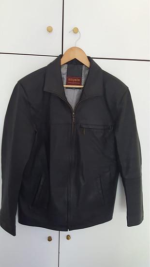 Vintage Deri Ceket ve Phılıps hoparlör.