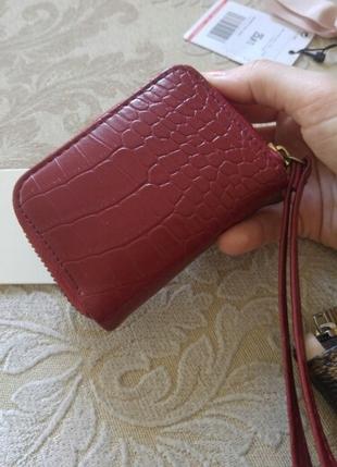 Deri görünümlü mini cüzdan