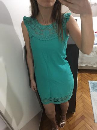 s Beden Yeşil elbise