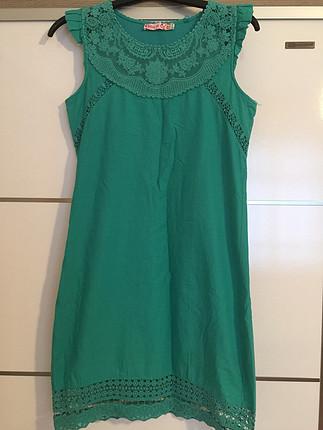 s Beden yeşil Renk Yeşil elbise