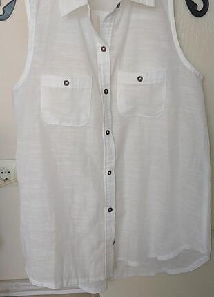 m Beden beyaz Renk Askılı gömlek