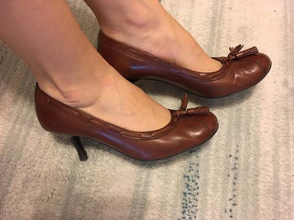 İnci gercek deri klasik ayakkabi