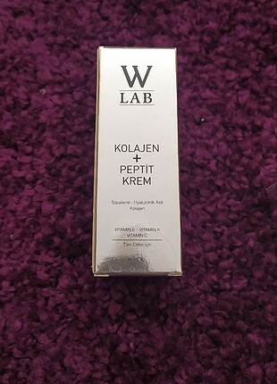 W-LAB COLLOGEN + PEPTIDE CREAM SELİN CİĞERCİ GÜVENCESİ