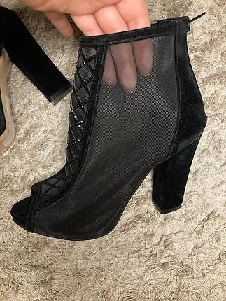 36 Beden Siyah ayakkabı