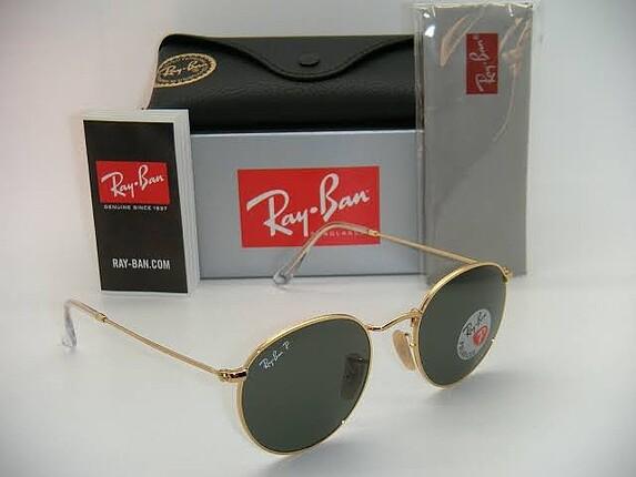 Orijinal Ray-Ban RB3447 Round Metal Gold