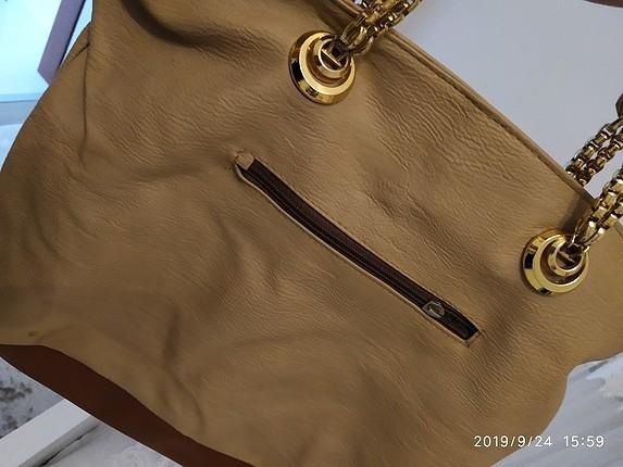 Gold detaylı çanta