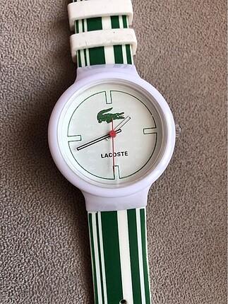 Lacoste yeşil beyaz saat