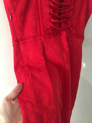 Koton Kırmızı dantelli elbise