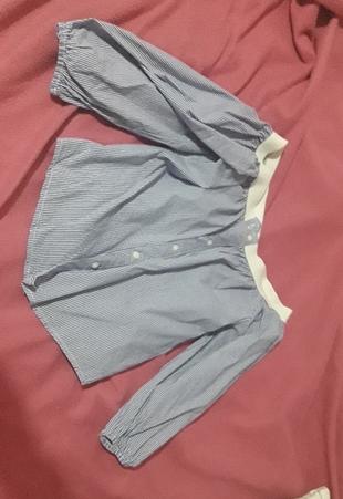 kolları lastikli mavi gömlek