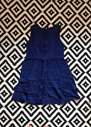 s Beden mavi Renk Mango yazlık elbise