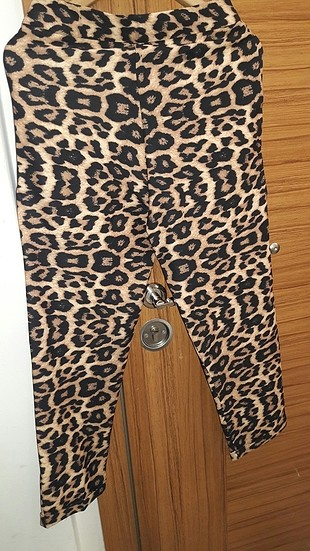 leopar havuç pantalon