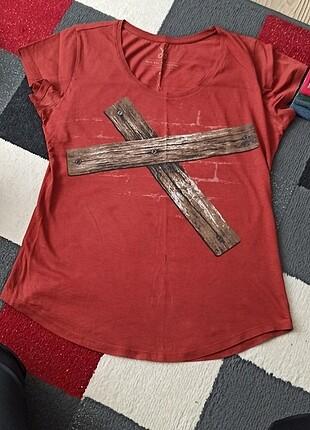 Kaft tasarım kiremit renk t-shirt