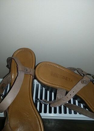 Beta deri sandaletler