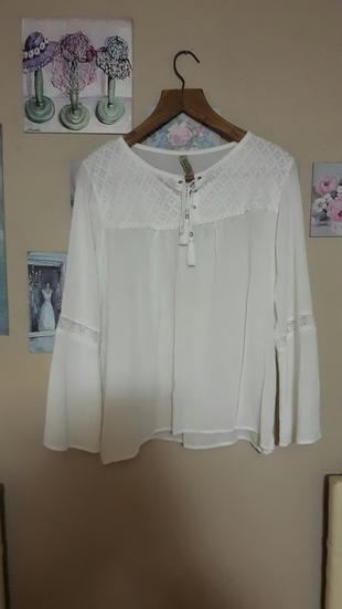 Beyaz Gömlek Bluz