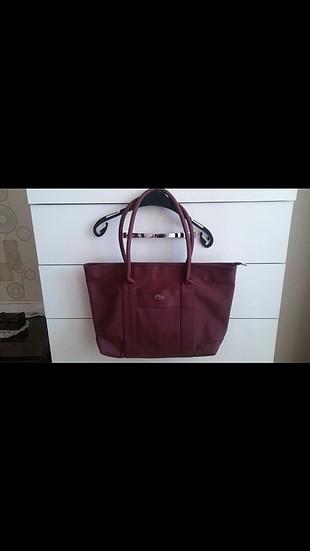 bordo lacoste çanta