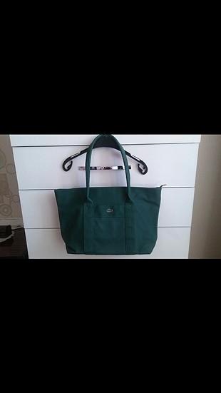 lacoste yeşil çanta