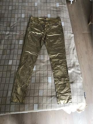 Gold renk Bershka pantolon