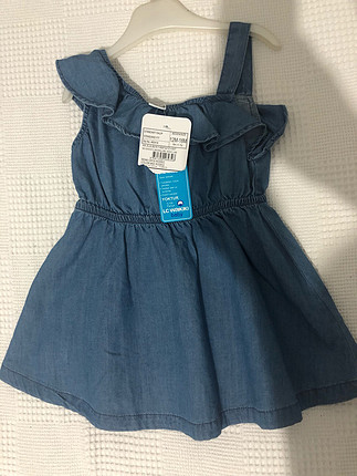 Kız bebek kot elbise