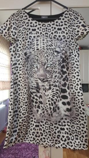 leopar desen tasarım elbise