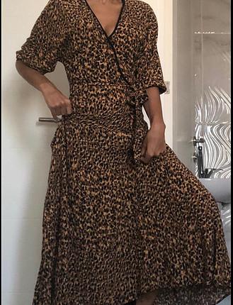 s Beden Zara leopar uzun elbise