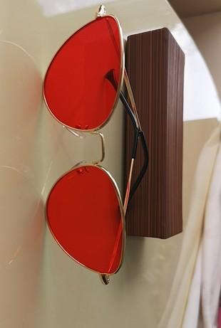 kırmızı tarz retro vintage güneş gözlüğü gözlük cat eye