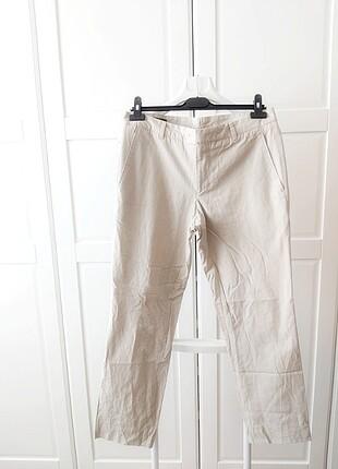 Yeni Sezon Erkek Cacharel ÇizgiliKrem Pantolon