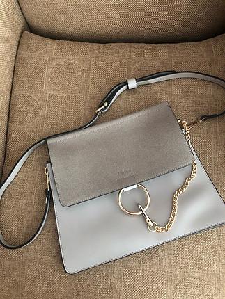 Gri askılı çanta