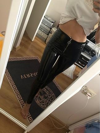 Vinil pantolon tayt