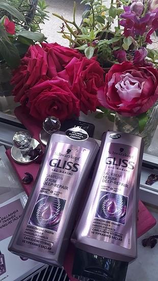 gliss keratin seri şampuan ve krem