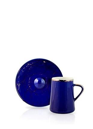 Acar yaldızlı kahve fincani seti