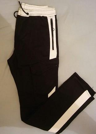 siyah beyaz kargo pantolom