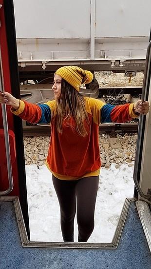 vintage sweatshirt + bere hediye