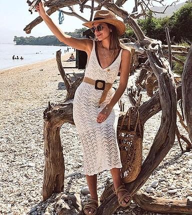 Zara Astarlı ithal triko elbise