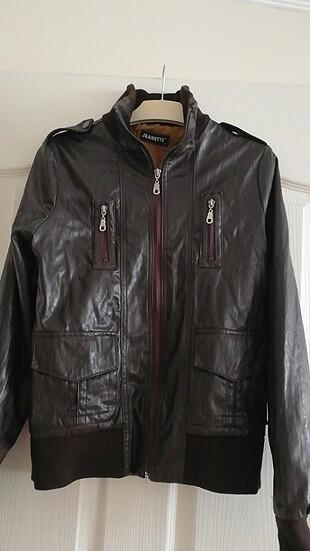 Kahverengi deri ceket