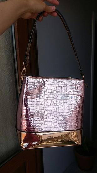 pembe gold çanta