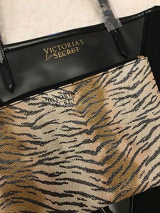 Victoria s Secret çanta ve makyaj çantası seti. Sıfır ürün, orij