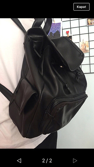 Siyah kullanışlı sırt çantası