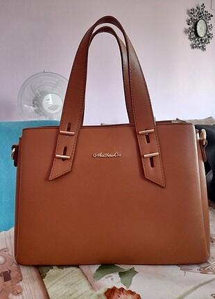 Kahverengi deri kol çantası