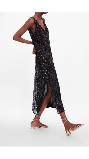 Zara V yaka elbise