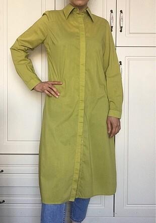 Ghisa marka uzun fıstık yeşili gömlek