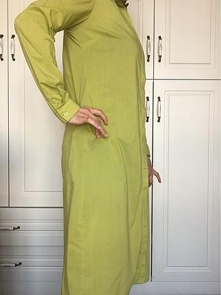 Kayra Ghisa marka uzun fıstık yeşili gömlek