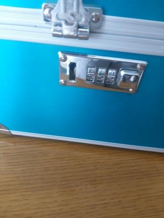 ea2b3ab8458b5 Şifreli Mavi Takı/makyaj Çantası Diğer Makyaj %54 İndirimli - Gardrops