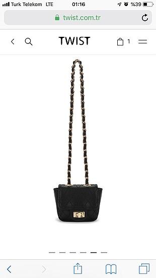 Beden siyah Renk Mini şık çanta