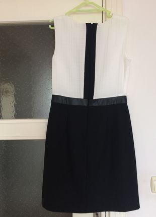 6b44fd9b76cee Siyah Beyaz Elbise Koton Nişan %58 İndirimli - Gardrops